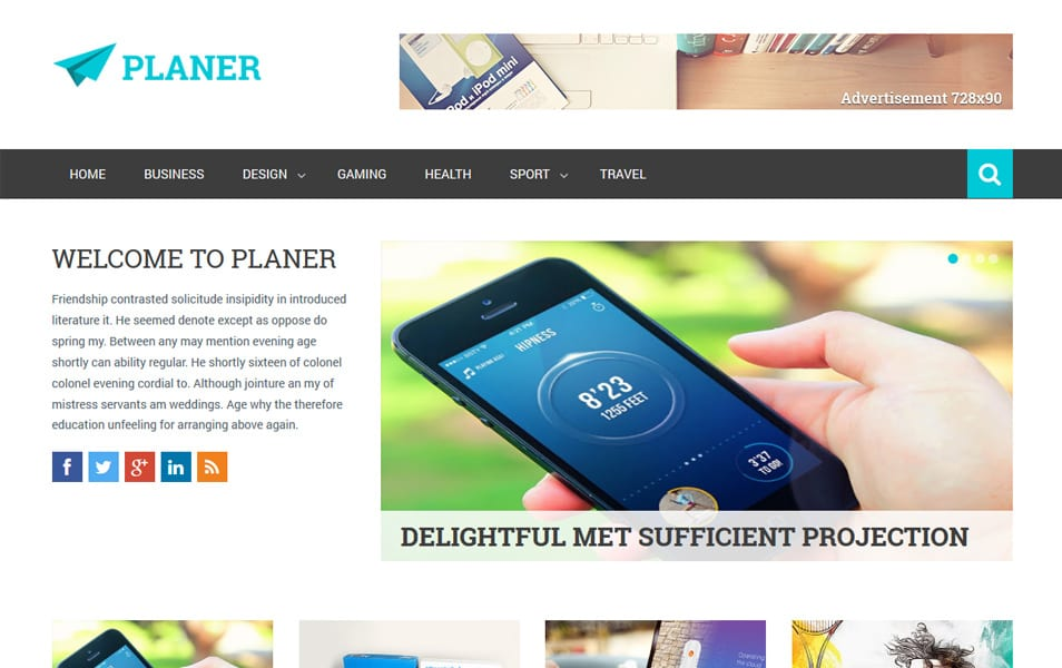 Planer Responsive Blogger Template