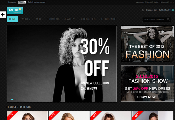 Responsive - Fashion Magento Theme - cssauthor.com