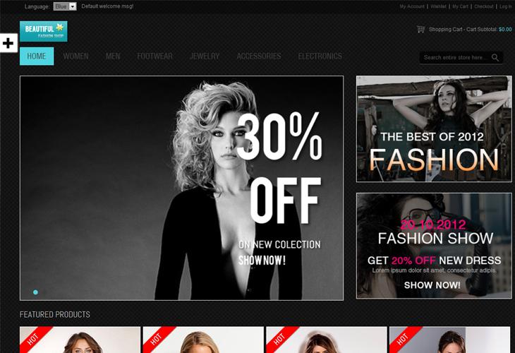 Responsive - Fashion Magento Theme - cssauthor.com