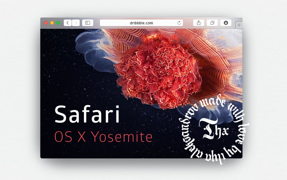 Safari Yosemite Browser Mockup PSD