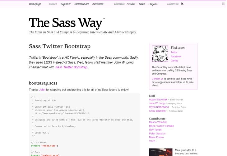 Sass Twitter Bootstrap