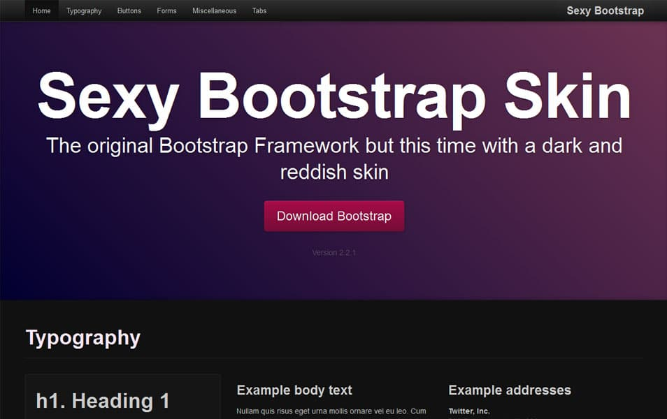 Sexy Bootstrap Skin