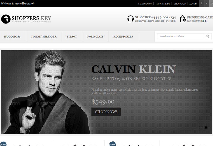 Shoppers Key - Responsive Magento Theme - cssauthor.com