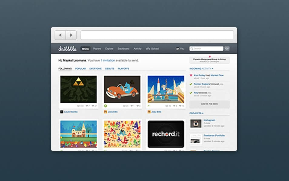 Simple Browser Chrome PSD