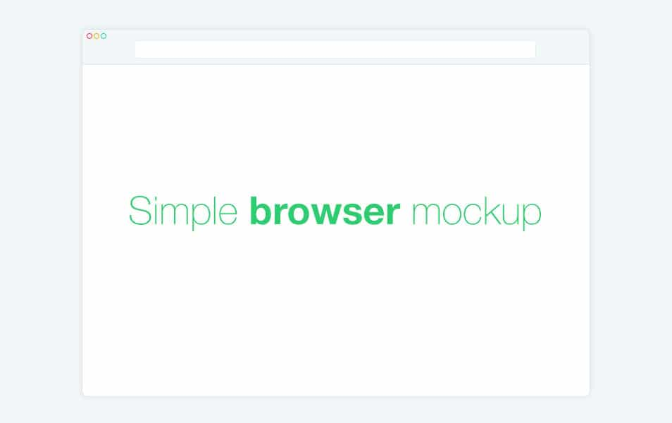 Simple Browser Mockup