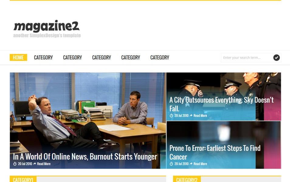 Simplex Magazine 2 – Responsive Magazine Blogger Template