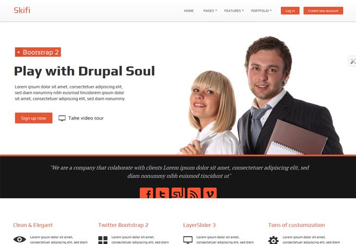 Skifi - Bootstrap Drupal theme