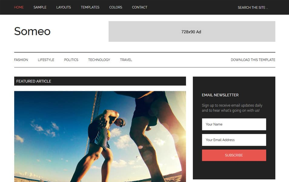 Someo Responsive Blogger Template