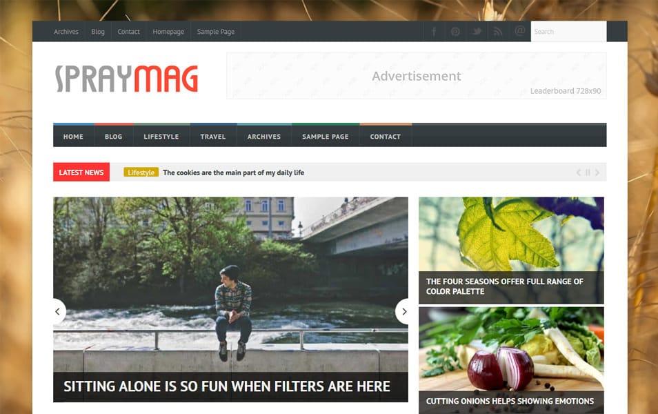 Spraymag Magazine Blogger Template