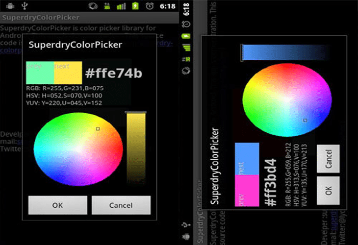 Superdry Color Picker
