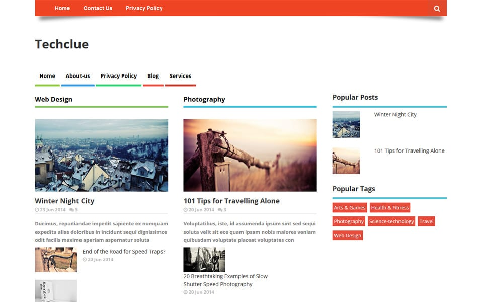 Techclue – Multi layout Style Responsive Blogger Template