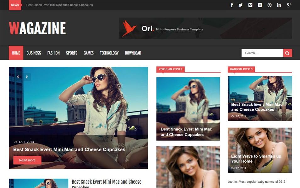 Wagazine Responsive Blogger Template
