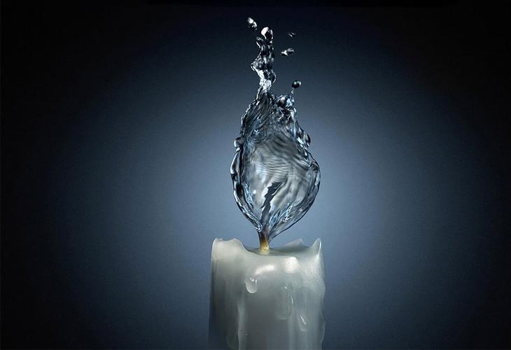 Water Candle Light - cssauthor.com