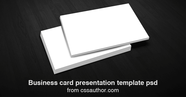 Free Download Business Card Presentation Templates PSD Freebie No - Business card template paper