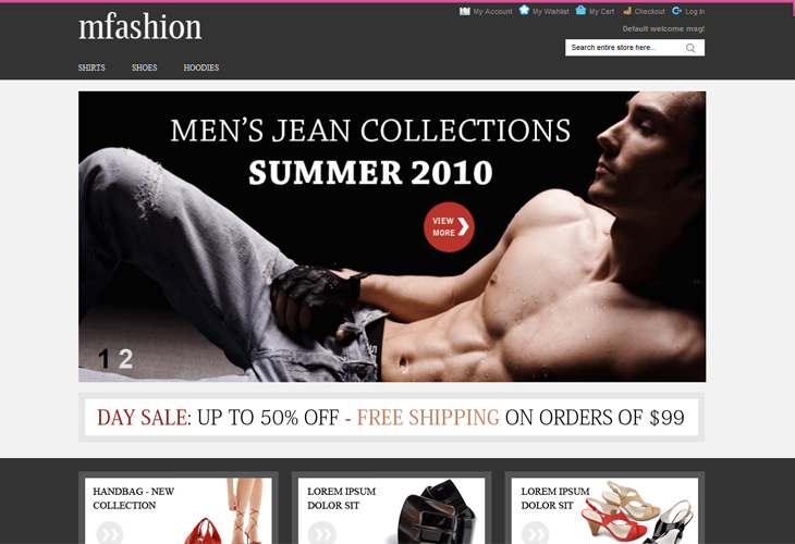 mFashion Responsive Magento Theme - cssauthor.com