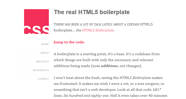 The real HTML5 boilerplate