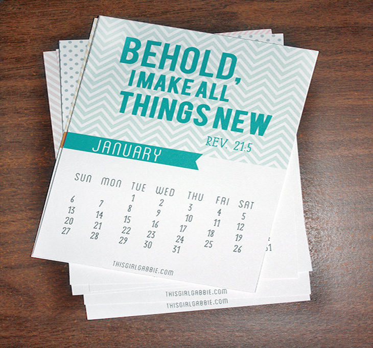 2013 Calendar - Bible Verse Calendar