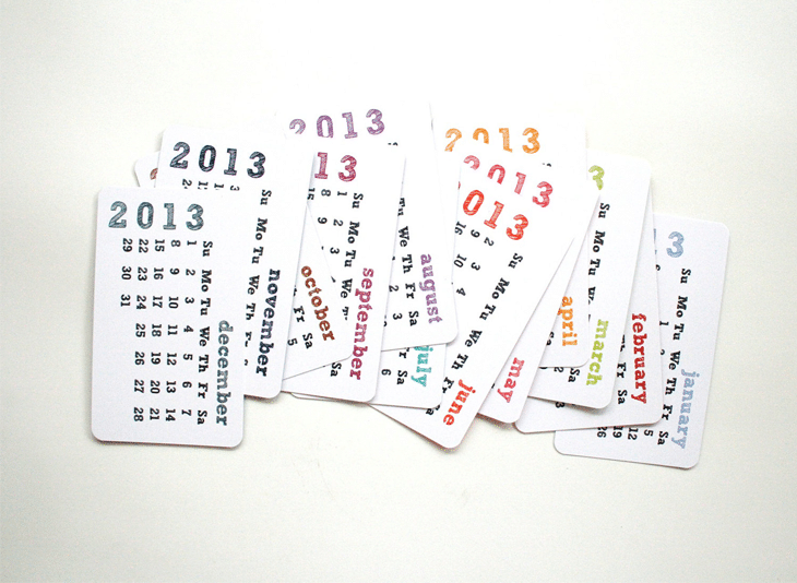 2013 Calendar - Pocket Calendar