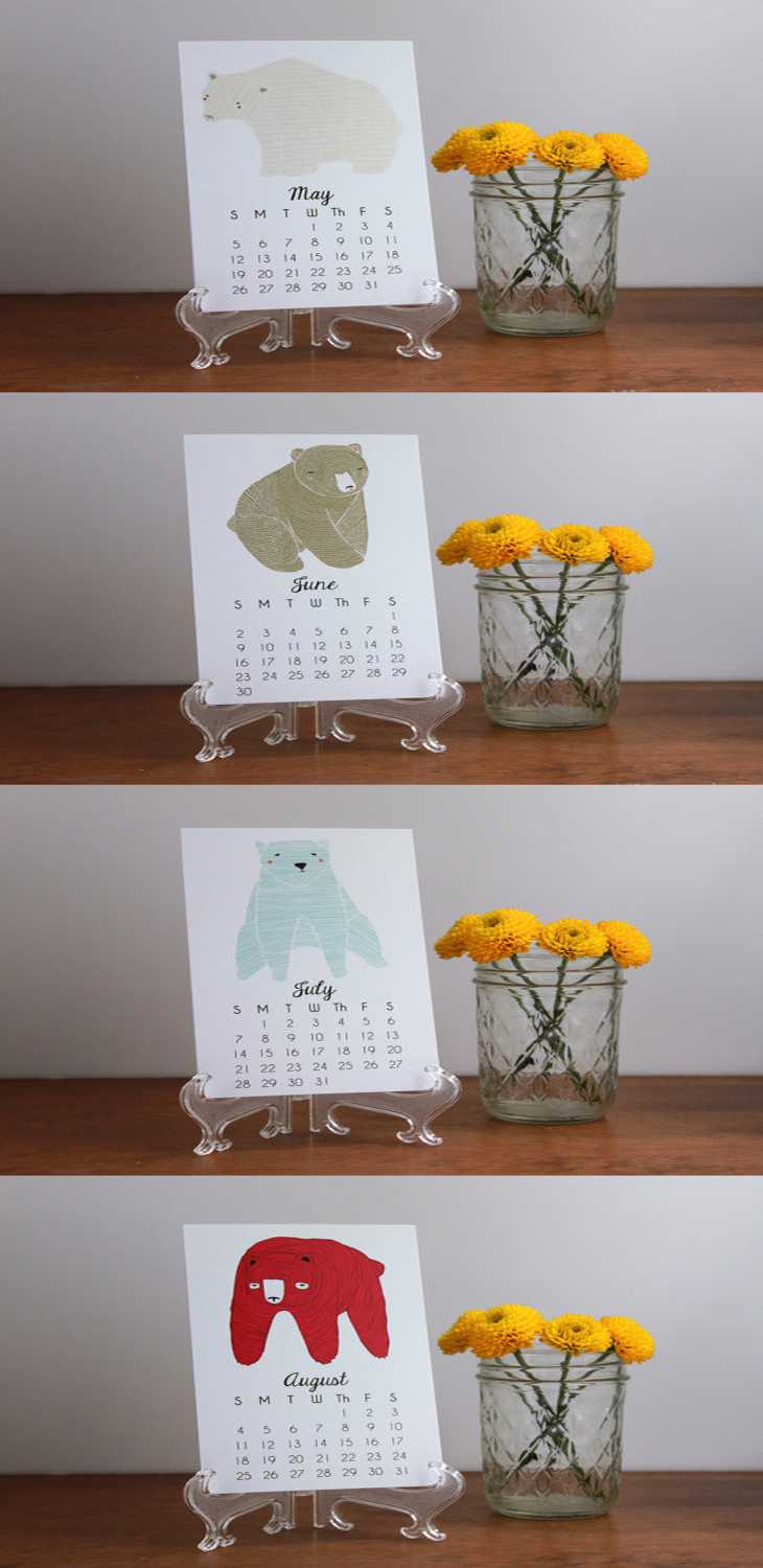 2013 Illustrated Little Bears Calendar