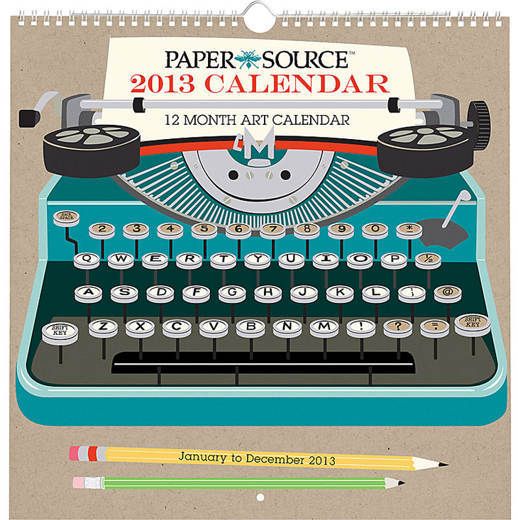 2013 Paper Source Art Grid Calendar