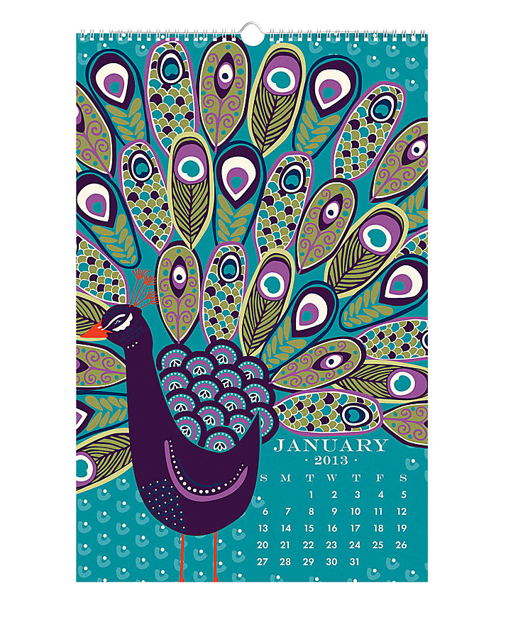 2013 Paper Source Wall Art Calendar