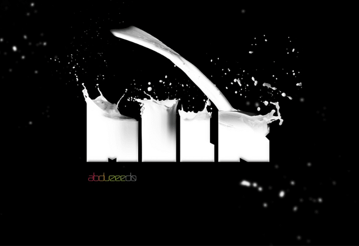 Awesome Milk Typography Effect