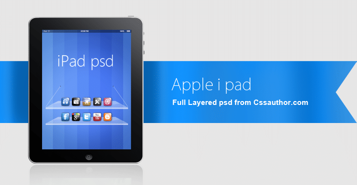 Beautiful Apple iPad PSD for Free Download - cssauthor.com