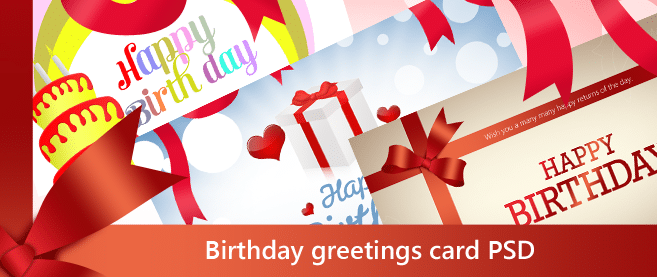 Beautiful Birthday greetings card PSD for Free Download Freebie – Happy Birthday Card Template Free Download
