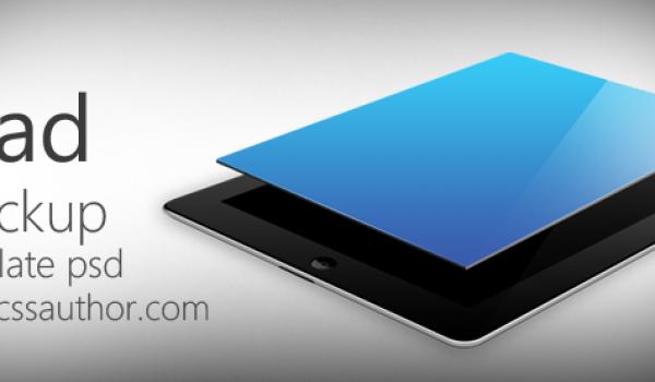 Beautiful iPad Mockup Template PSD for Free Download - cssauthor.com