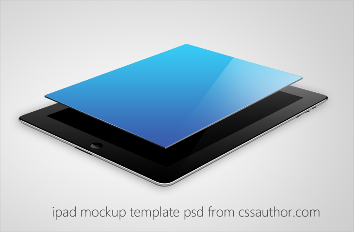 Beautiful iPad Mockup Template PSD for Free Download - cssauthor.com