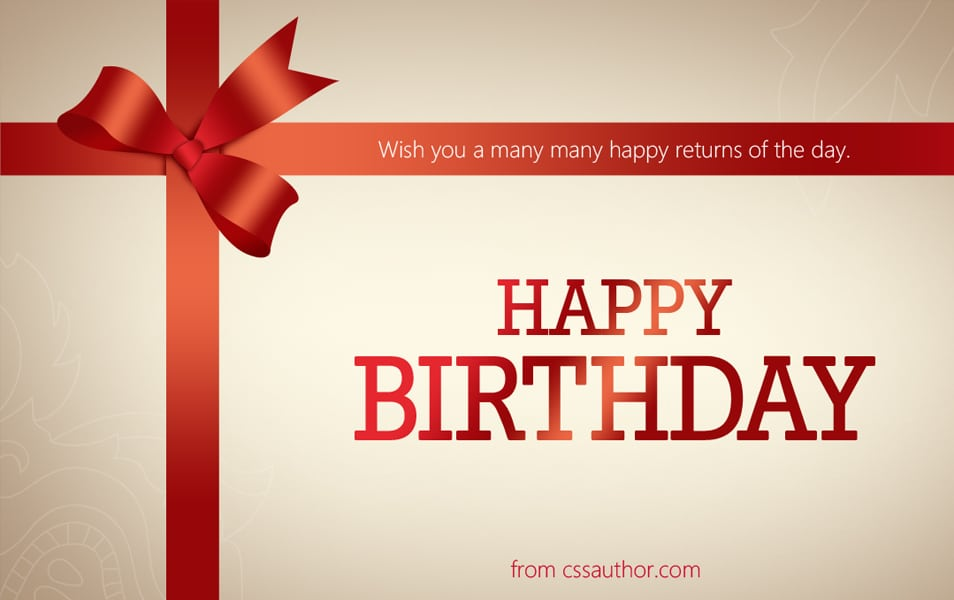Birthday Greeting Cards PSD