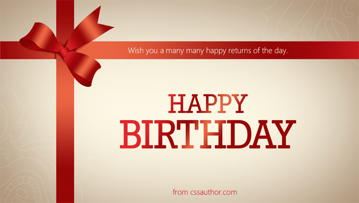 Birthday Greeting Cards - cssauthor.com
