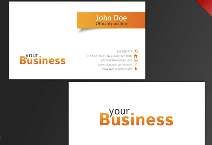 30 beautiful business card design templates clean business card template reheart Gallery