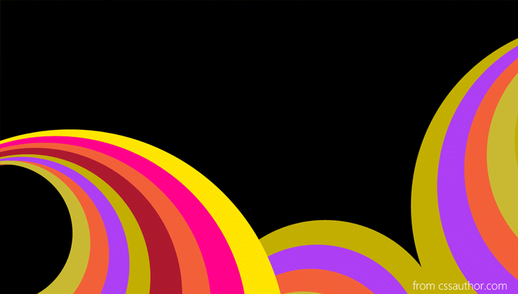 Color Abstract Background Round PSD - cssauthor.com