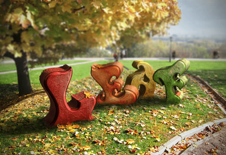 Create an Autumn-Themed 3D Text Effect