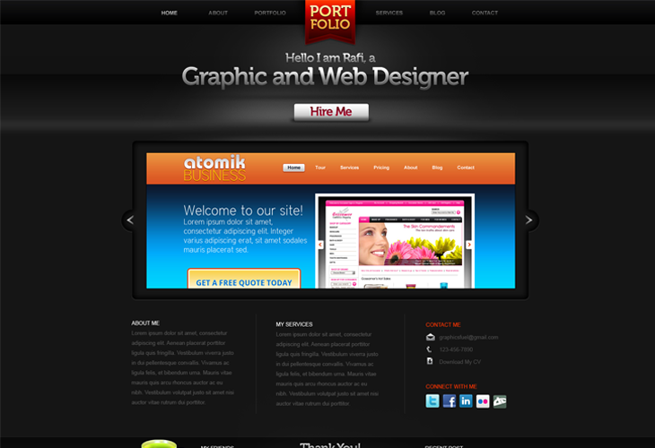 Creative-Portfolio-Website-PSD-Template