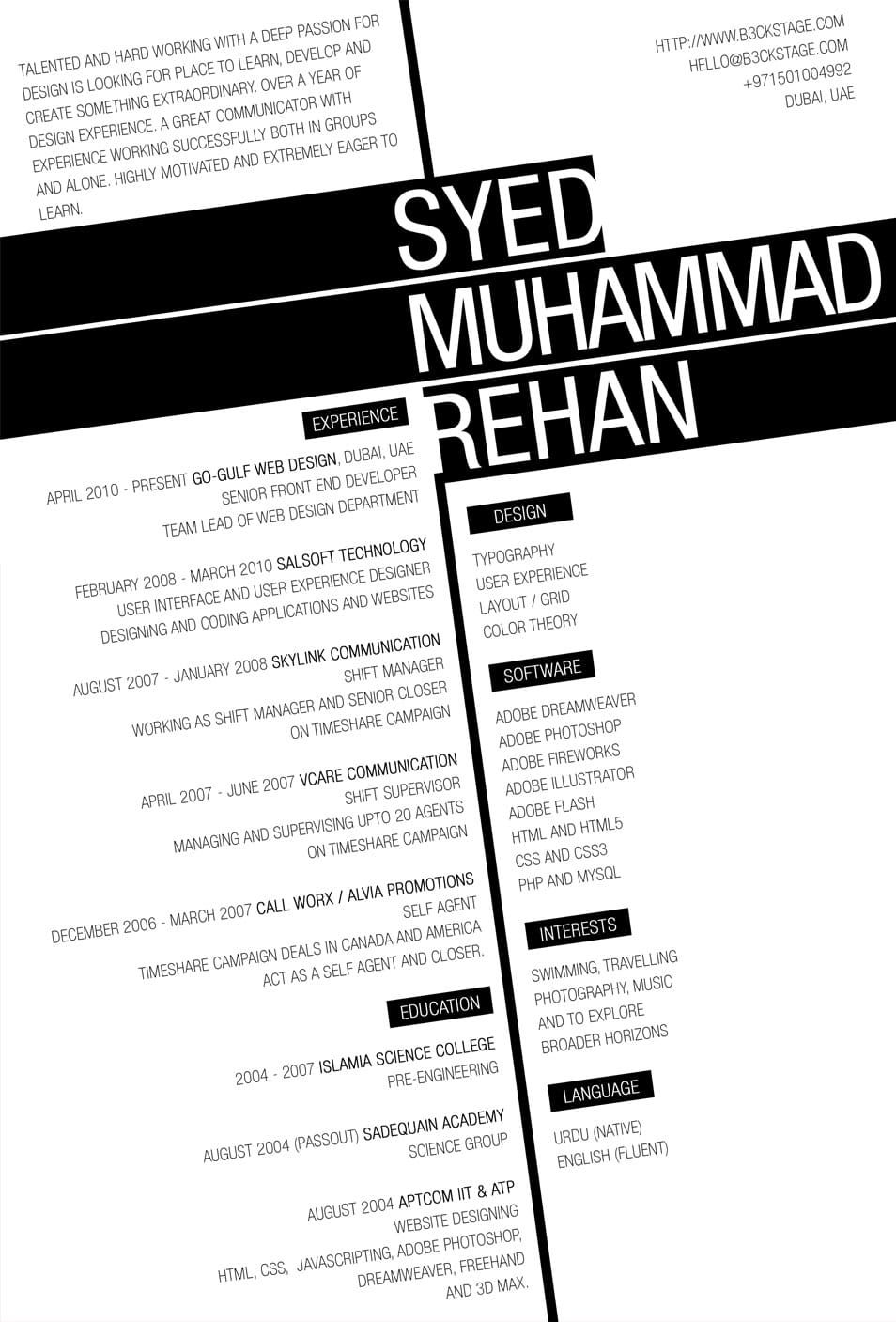 creative cv resume design inspiration creative resume