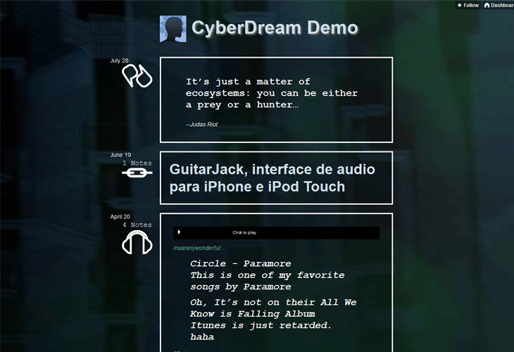 CyberDream - Tumblr Theme