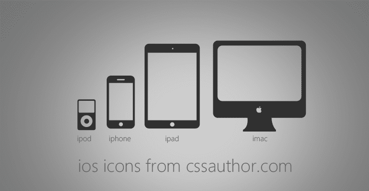 Excellent iOS Devices Icons PSD for Free Download - cssauthor.com