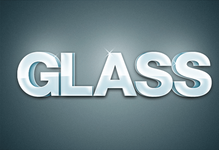 Extruded Glossy 3D Text