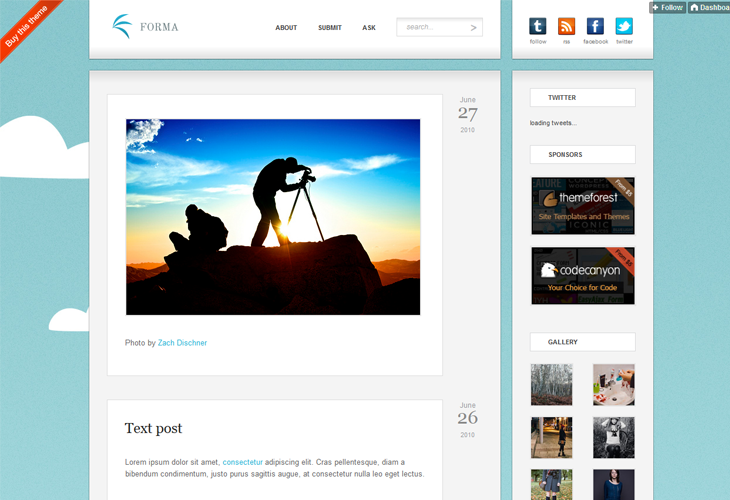 Forma - Premium Tumblr Theme