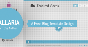 Gallaria – Free Blog Template Design From CSS Author – Freebie No: 44