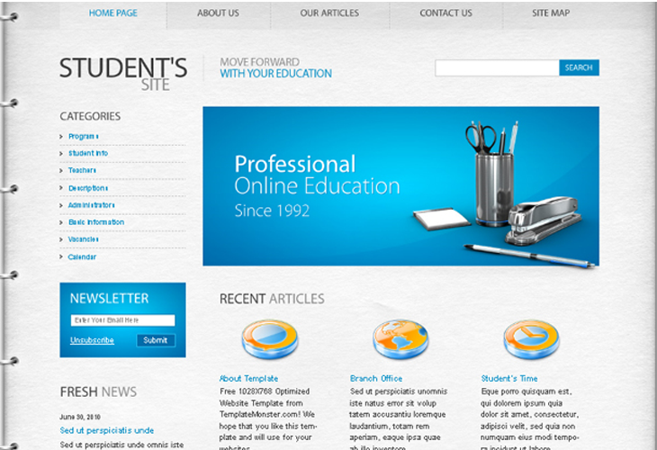 Well designed psd website templates for free download for Website templates free download