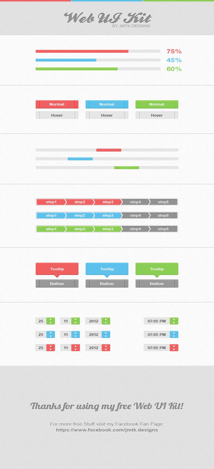 40 Beautiful User Interface Design Kits
