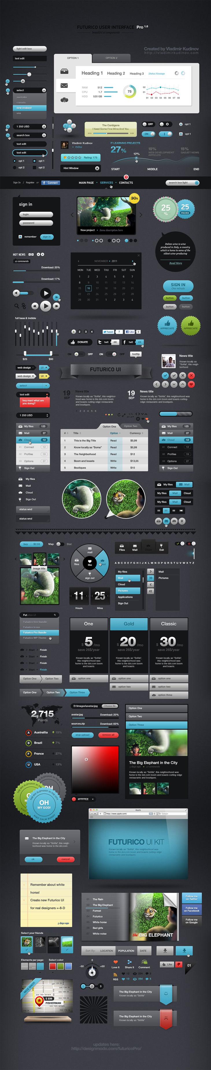 Futurico UI Pro Advanced User Interface Elements