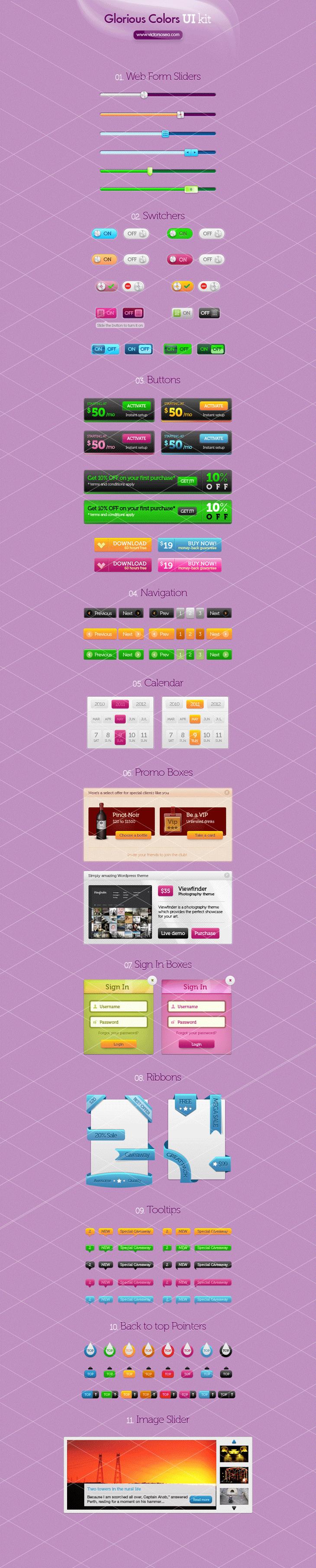 Glorious Colors UI Kit