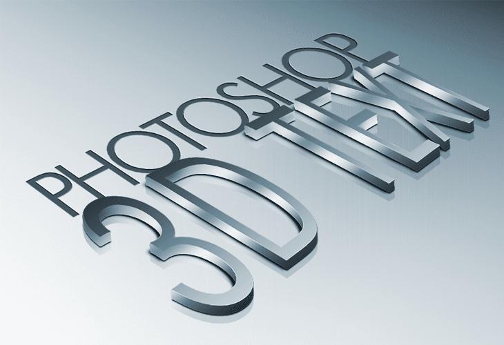 High Quality Metal 3D Text