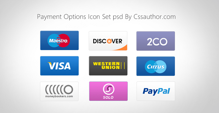 High Quality Payment Options Icon Set for Free Download - cssauthor.com