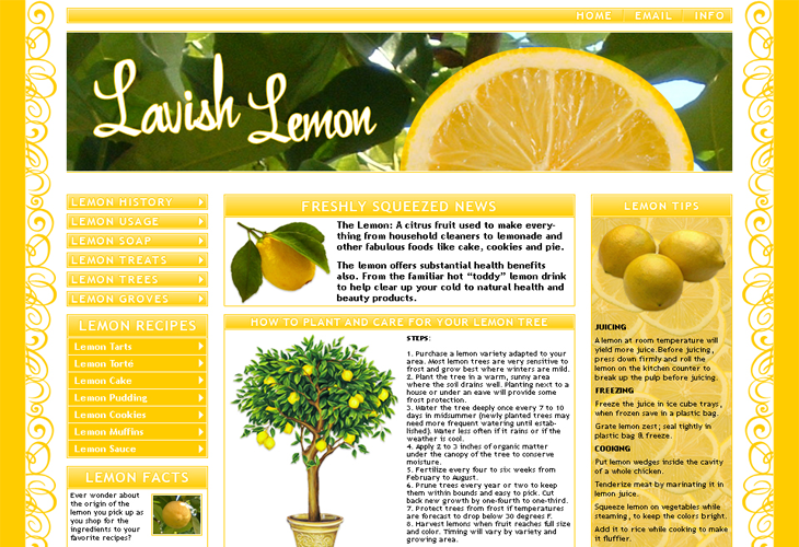 Lavish-Lemon-Template