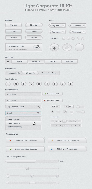Light Corporate UI Kit